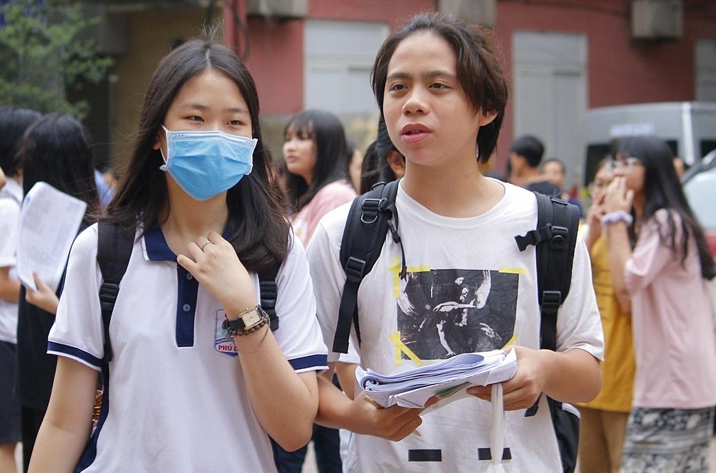 Thí sinh dự thi lớp 10 ở Hà Nội năm 2020. Ảnh: Thanh Hằng.