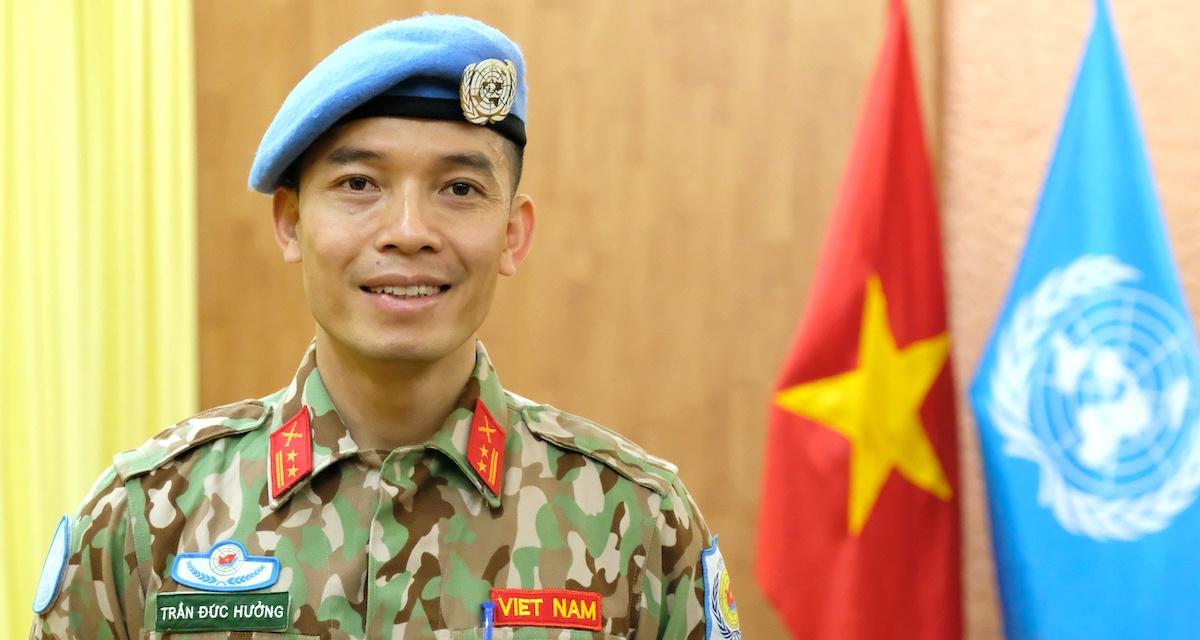 Trung tá Trần Đức Hưởng. Ảnh: Hoàng Thùy