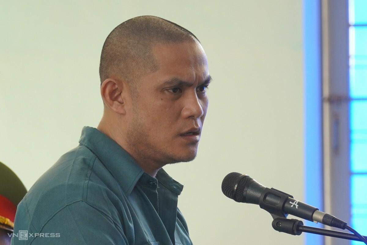 Bị cáo Mai Quốc Nam tại phiên tòa sơ thẩm, ngày 15/3. Ảnh: Việt Quốc.