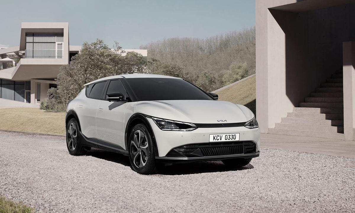 Thương hiệu Hàn Quốc giới thiệu mẫu ôtô điện mới. Ảnh: Kia