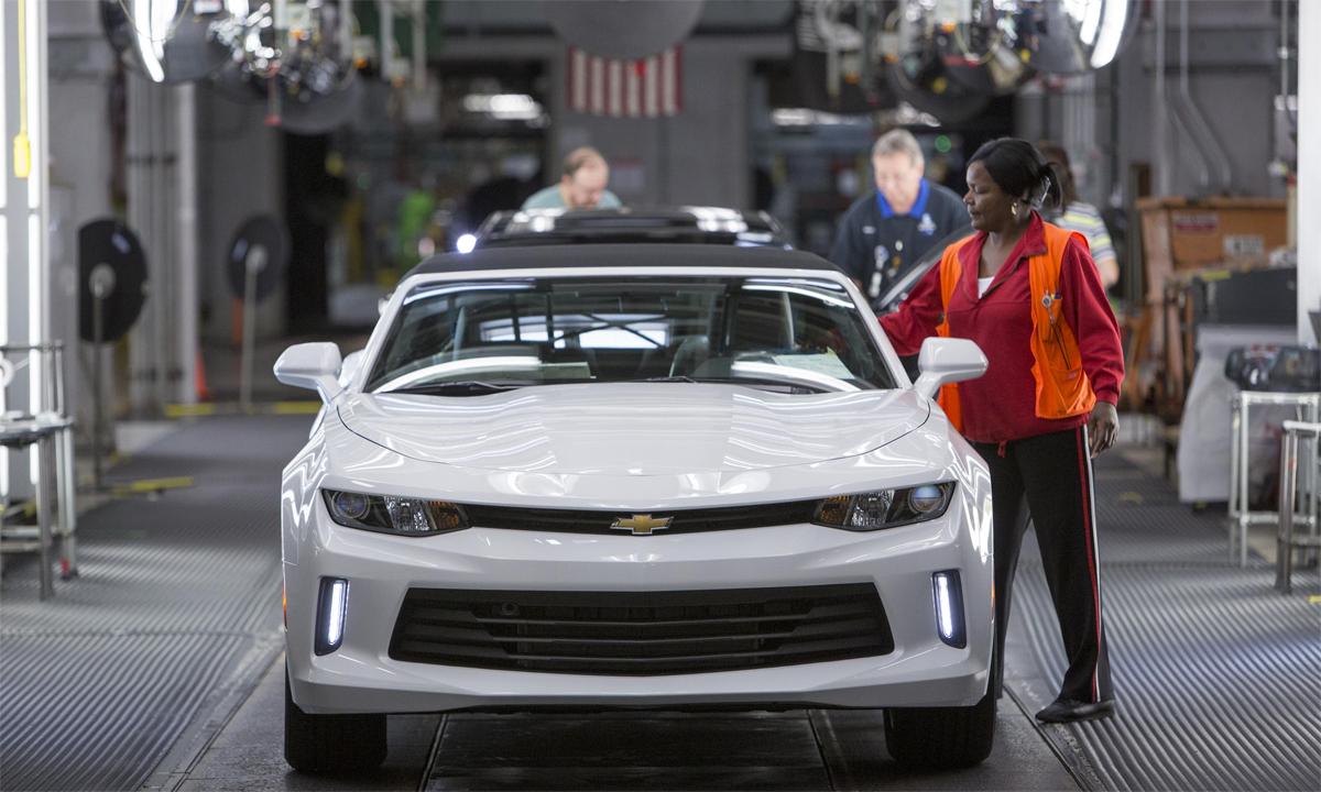 Nhà máy của GM ở Lansing là nơi xuất xưởng Chevrolet Camaro và hai mẫu xe Cadillac. Ảnh: Chevrolet