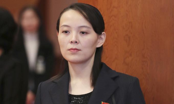 Kim Yo-jong, em gái lãnh đạo Triều Tiên Kim Jong-un. Ảnh: Yonhap.