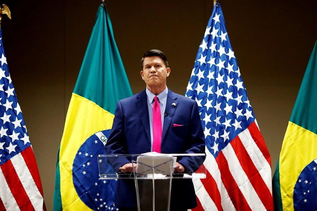 Keith Krach thăm Brazil vào tháng 11/2020. Ảnh: Reuters.