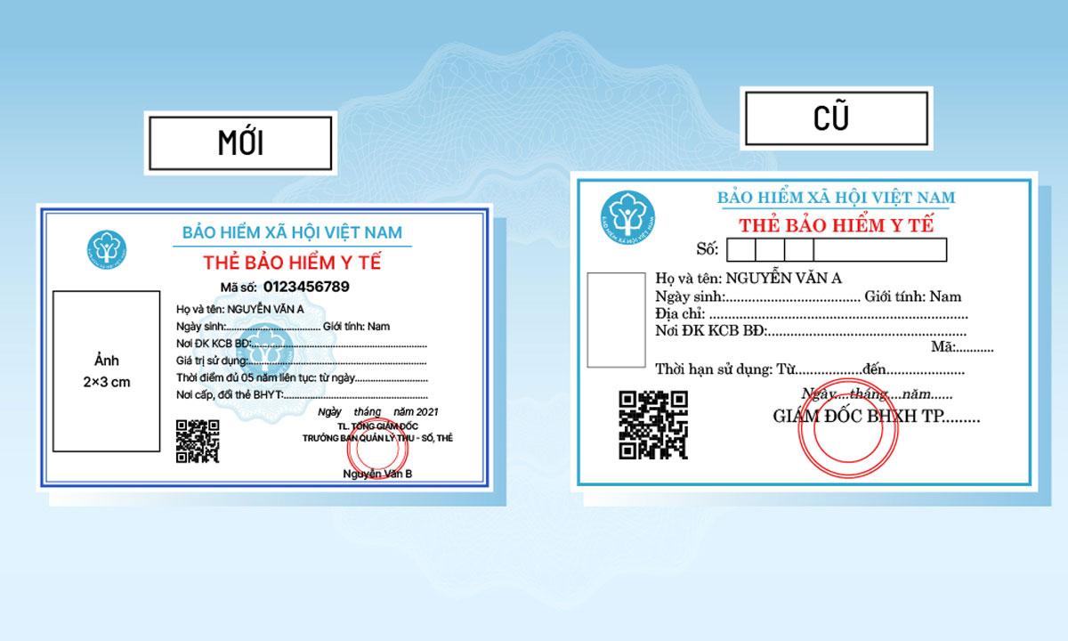 Những khác biệt của thẻ BHYT cũ và mới (Click để xem chi tiết). Đồ họa: Việt Chung