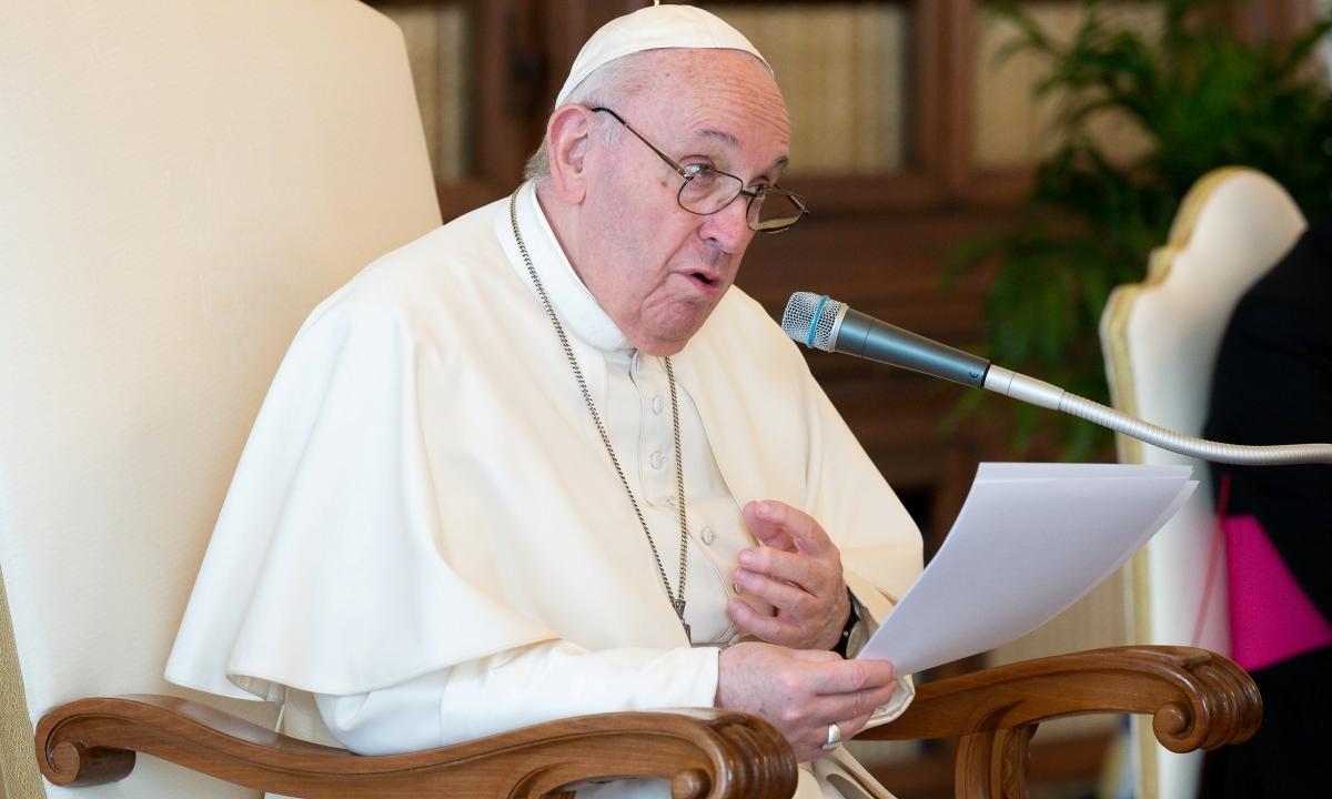 Giáo hoàng Francis tại buổi tiếp kiến chung tại Vatican ngày 17/3. Ảnh: Reuters.