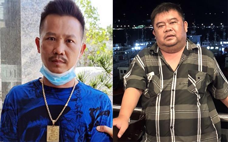Nguyễn Thanh Bình (trái) và Đặng Quang Minh cầm đầu hai nhóm hỗn chiến. Ảnh: Công an cung cấp