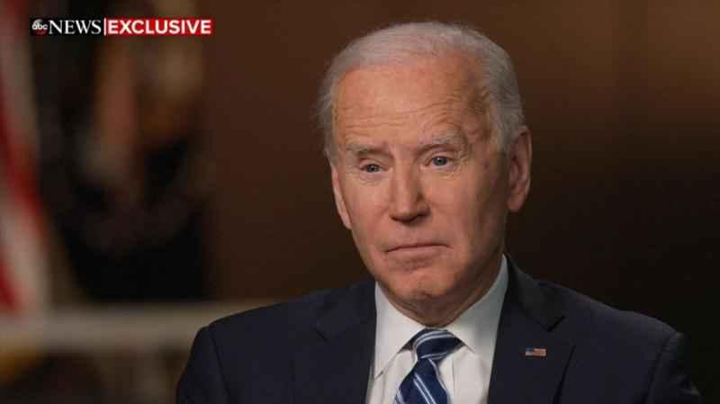 Tổng thống Mỹ Joe Biden trong cuộc phỏng vấn dự kiến phát sóng hôm nay. Ảnh: ABC.
