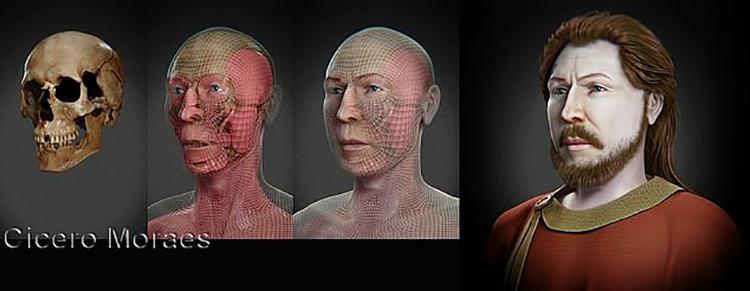 Khuôn mặt được phục dựng của công tước Spytihněv I. Ảnh: Cicero Moraes.