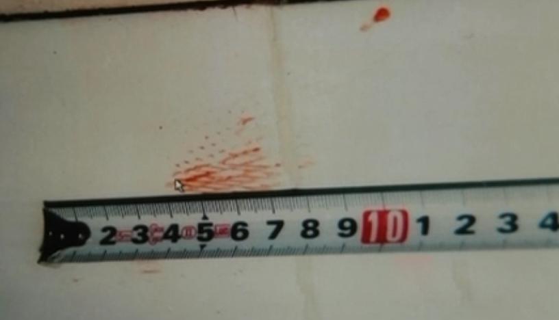 Vết máu trong nhà vệ sinh. Ảnh: CCTV.