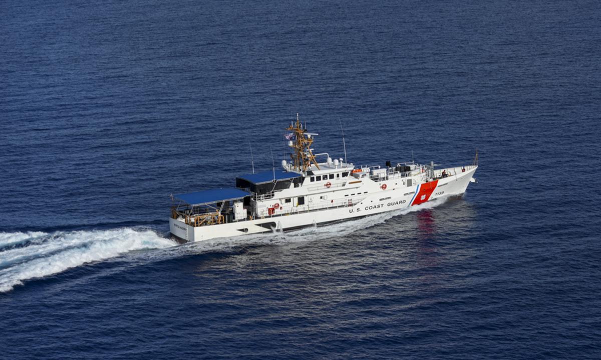 Tàu tuần duyên USCGC Myrtle Hazard cập cảng Apra trên đảo Guam tháng 9/2020. Ảnh: USCG.