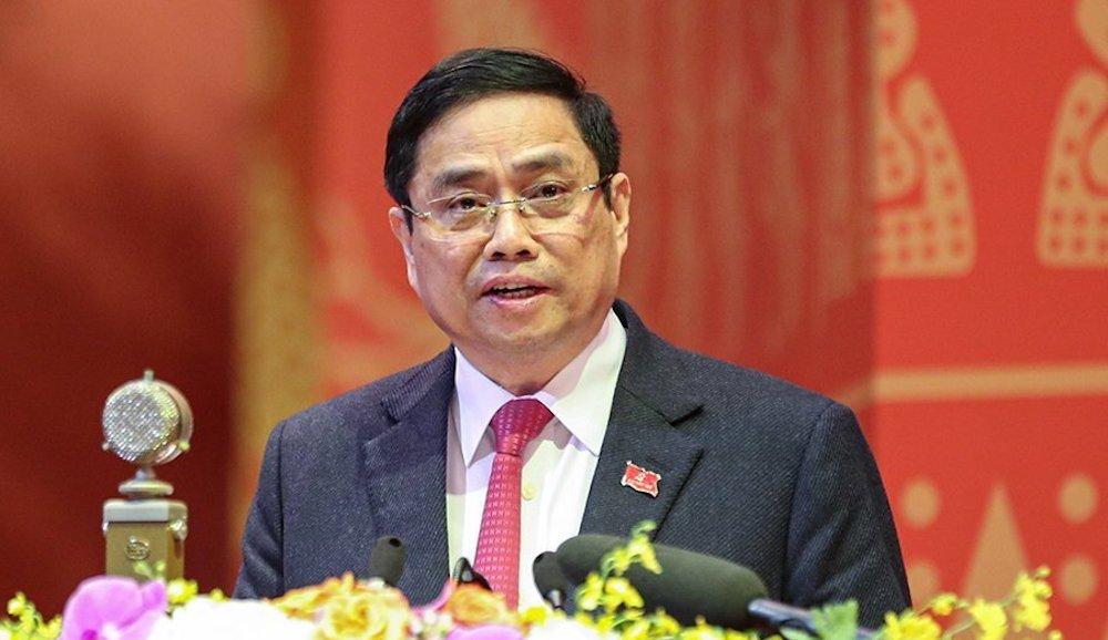 Trưởng Ban Tổ chức Trung ương Phạm Minh Chính. Ảnh: Hoàng Phong