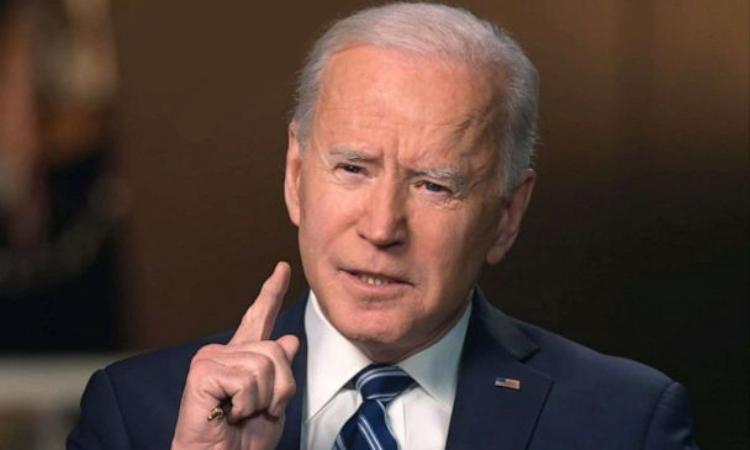 Biden trong cuộc phỏng vấn với ABC News phát sóng hôm 17/3. Ảnh: ABC.