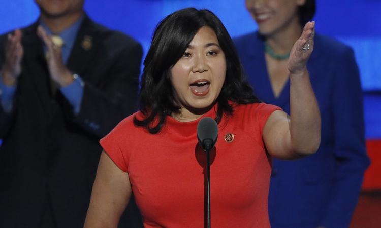 Hạ nghị sĩ Dân chủ Grace Meng phát biểu ở Philadelphia, Pennsylvania, hồi tháng 7/2016. Ảnh: Reuters.