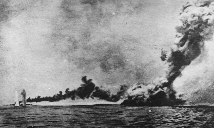 Tàu HMS Queen Mary của Anh bị đánh chìm trong trận Jutland. Ảnh: Wikipedia.