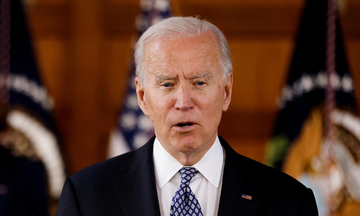 Tổng thống Mỹ Joe Biden phát biểu tại Đại học Emory ở thành phố Atlanta, bang Georgia, ngày 19/3. Ảnh: Reuters.