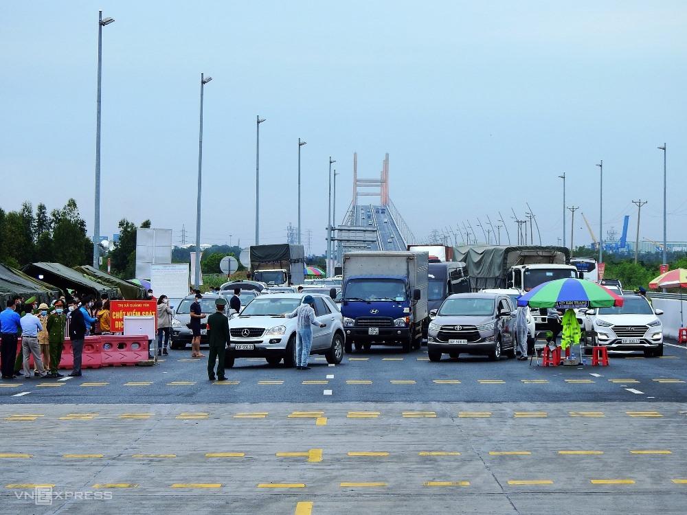 Các chốt kiểm soát ra vào tỉnh Quảng Ninh được dỡ bỏ từ 0h ngày 22/3. Ảnh: Minh Cương