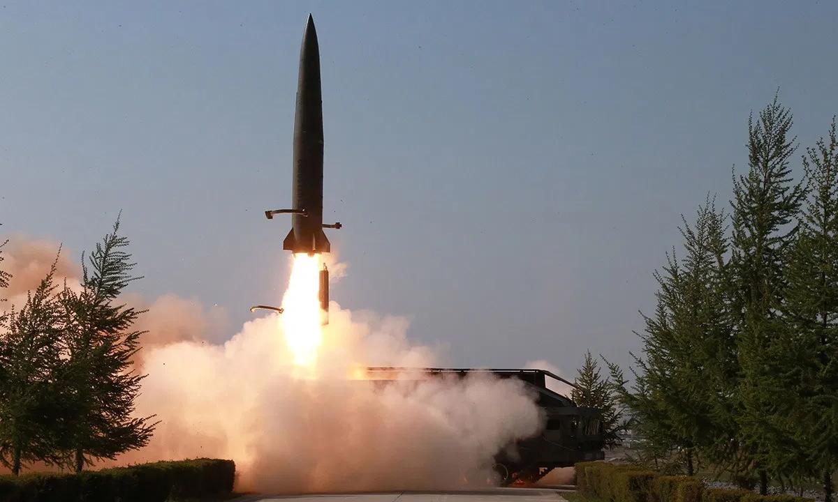 Triều Tiên phóng thử tên lửa tầm ngắn hồi tháng 5/2019. Ảnh: KCNA.