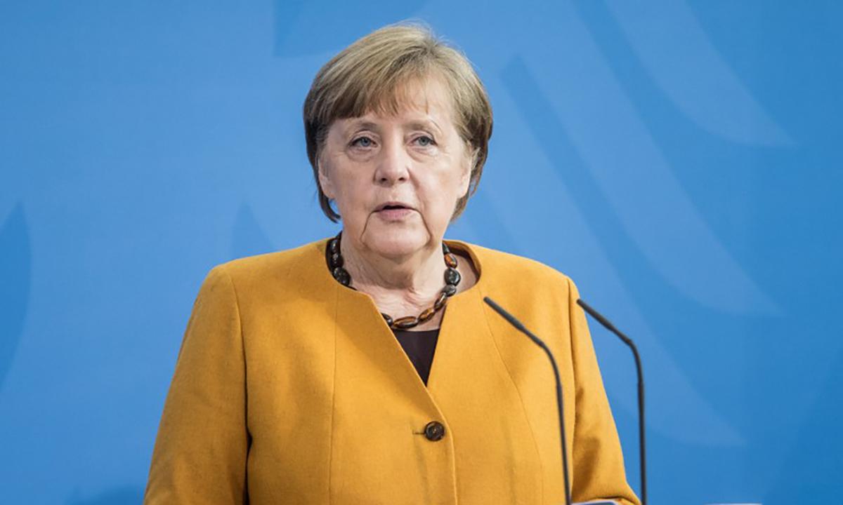 Thủ tướng Đức Angela Merkel trong cuộc họp báo tại Berlin ngày 24/3. Ảnh: AFP.