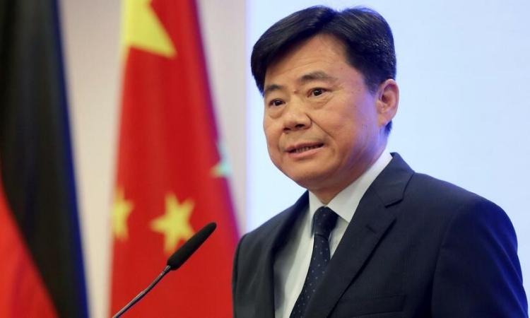 Đại sứ Trung Quốc tại Đức Wu Ken. Ảnh: AP.