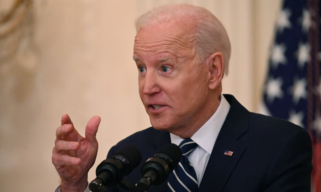 Tổng thống Mỹ Joe Biden phát biểu tại Nhà Trắng hôm 25/3. Ảnh: AFP.