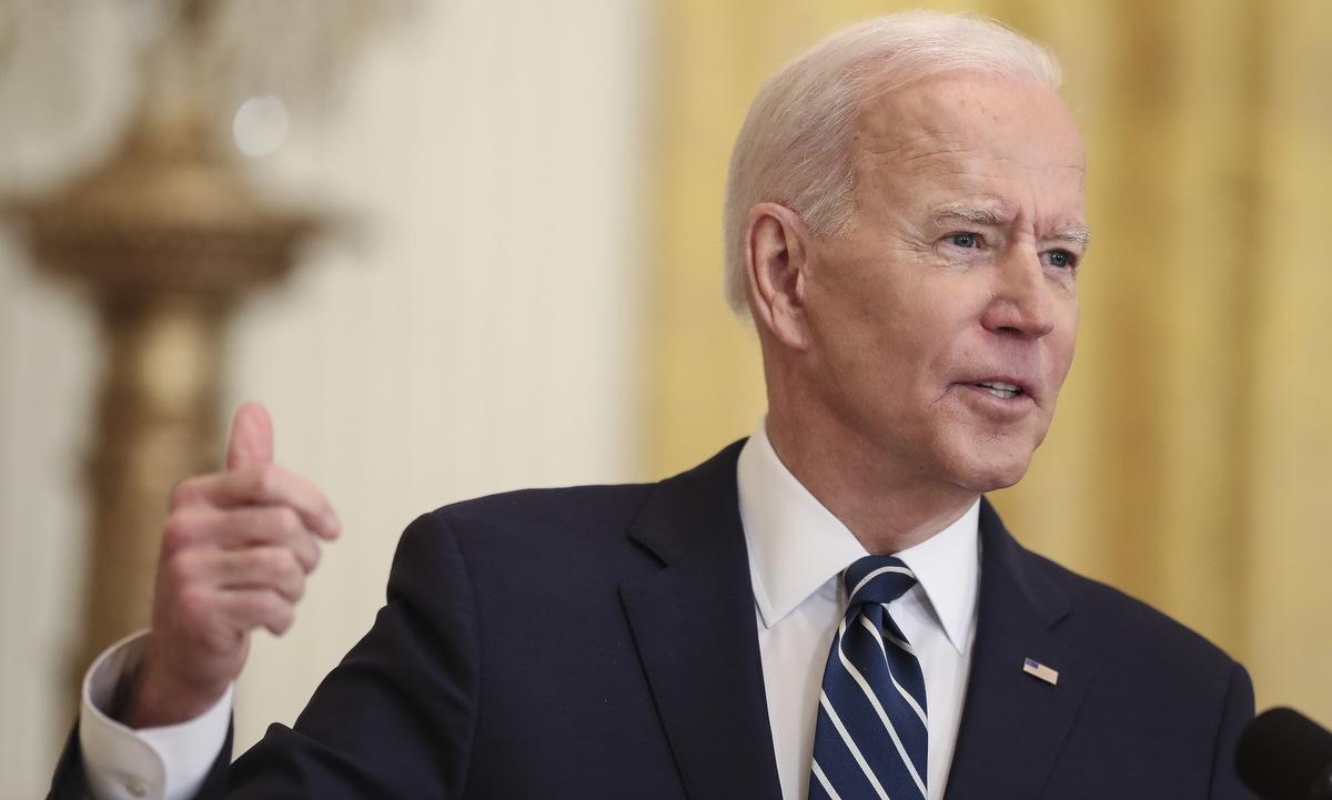 Biden trong cuộc họp báo tại Nhà Trắng hôm 25/3. Ảnh: Reuters.