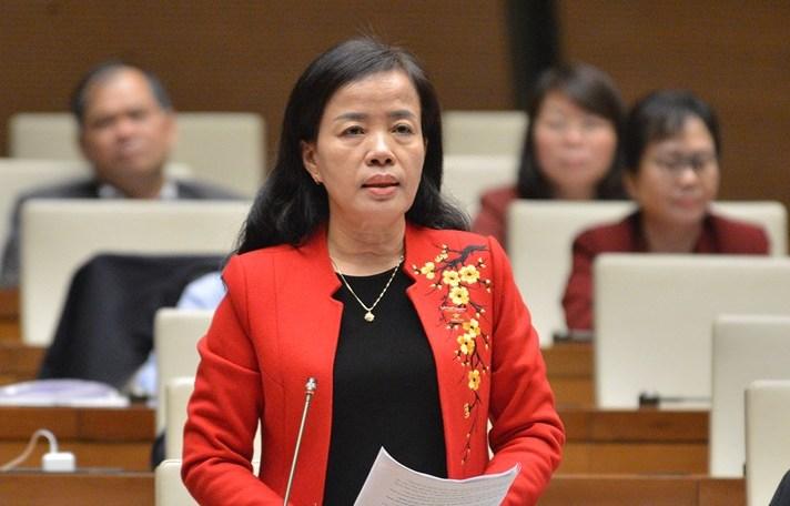 Đại biểu Nguyễn Thị Kim Thúy. Ảnh: Trung tâm báo chí Quốc hội
