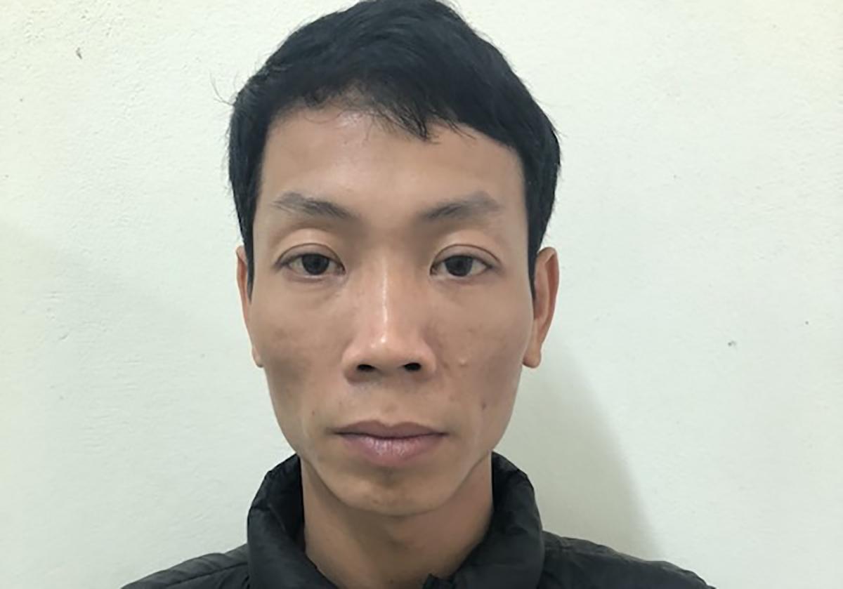 Trương Minh Thêu tại cơ quan điều tra. Ảnh: Công an cung cấp.