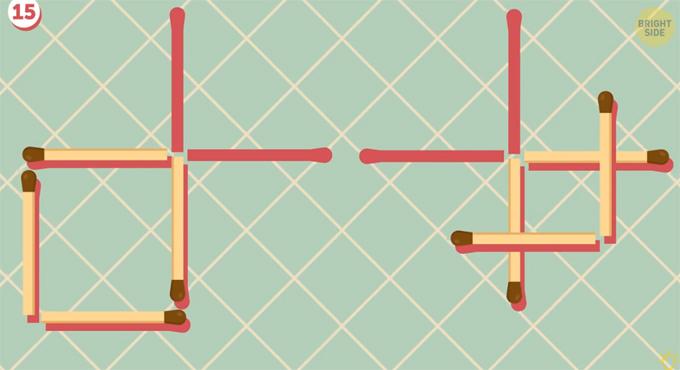 Có hai cách xếp que diêm để tạo thành hình vuông