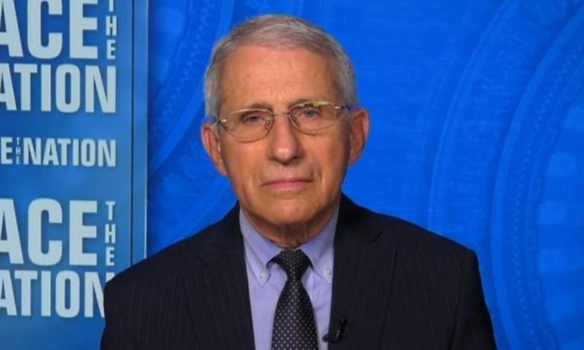 Tiến sĩ Fauci trên truyền hình hôm 28/3. Ảnh: CBS News.