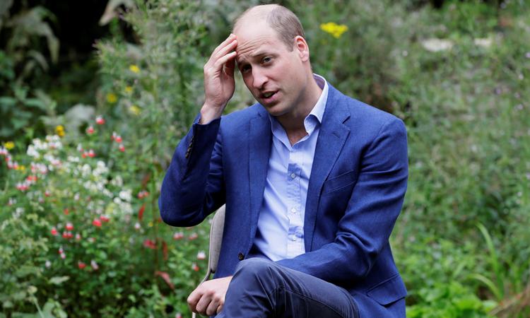 Hoàng tử WIlliam trong chuyến thăm Vườn Hồng ở Peterborough tháng 2/2020. Ảnh: Reuters.
