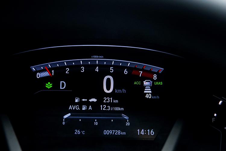 Driver center dashboard on CR-V.