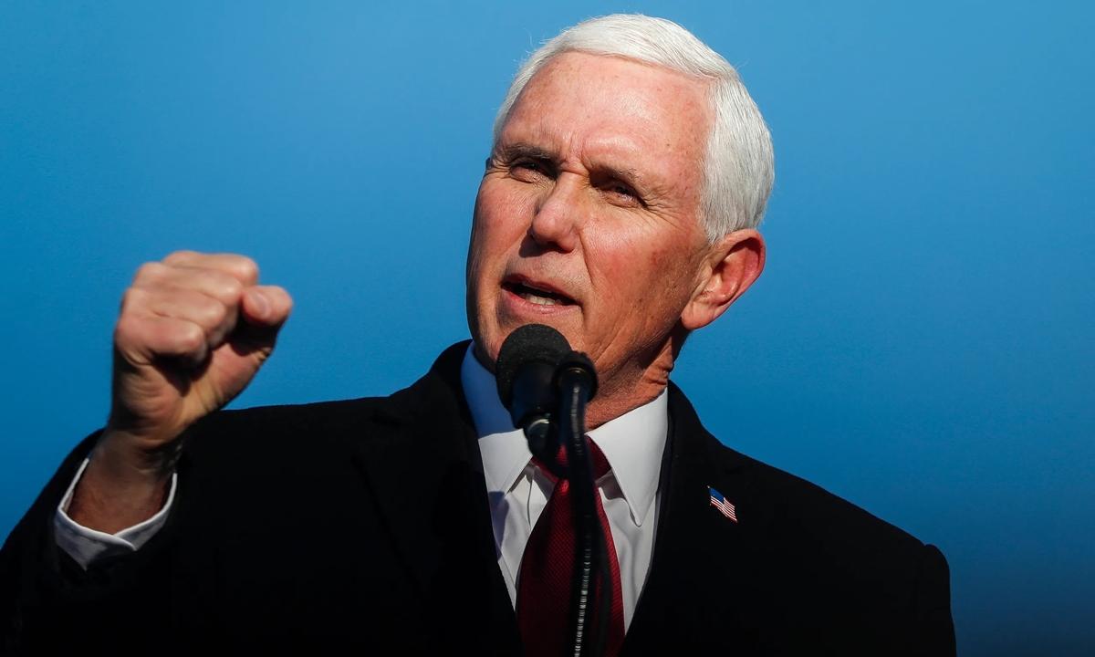 Mike Pence phát biểu chia tay người ủng hộ trên cương vị phó tổng thống ngày 20/1. Ảnh: Reuters.