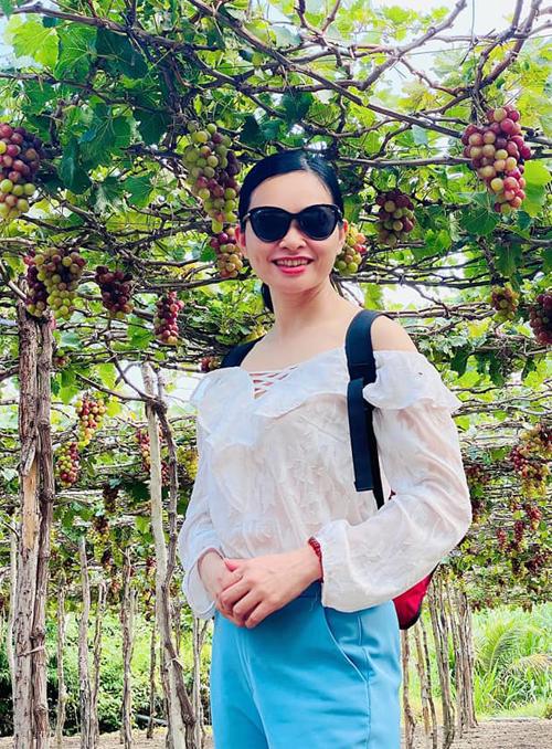 Chị Hải trong chuyến du lịch Ninh Thuận mới đây. Ảnh: NVCC.