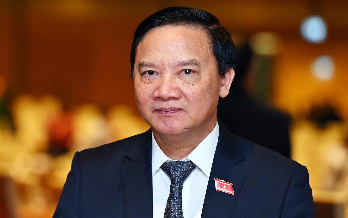 Ông Nguyễn Khắc Định, Bí thư Tỉnh ủy Khánh Hòa được giới thiệu để bầu Phó chủ tịch Quốc hội. Ảnh: Giang Huy