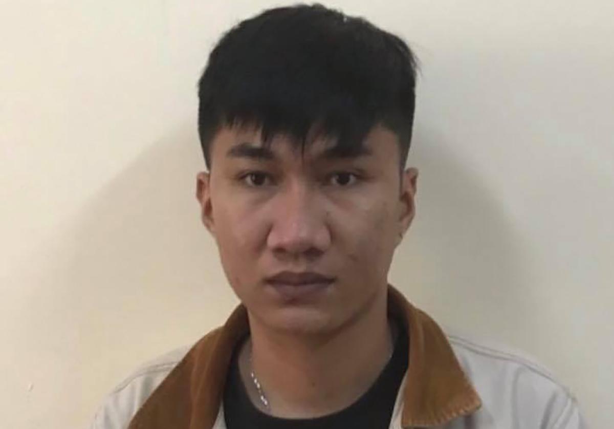 Nguyen Bao Tuan at the investigative agency.  Photo: Police provide.