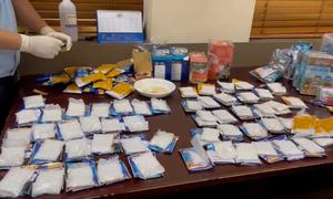 Lô ma túy giấu trong kiện hàng xuất đi Đài Loan