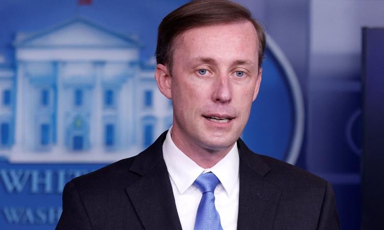 Cố vấn An ninh Quốc gia Mỹ Jake Sullivan trong cuộc họp tại nhà Trắng hôm 4/2. Ảnh: Reuters.