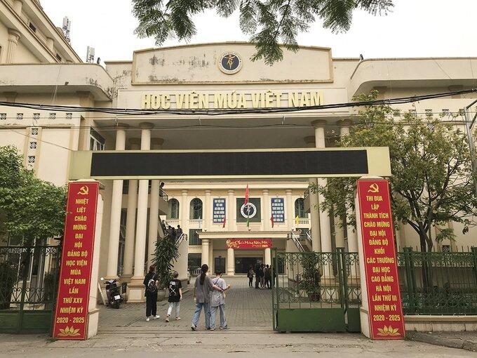 Học viện Múa Việt Nam ở phường Mai Dịch, quận Cầu Giấy, Hà Nội. Ảnh: Dương Tâm.