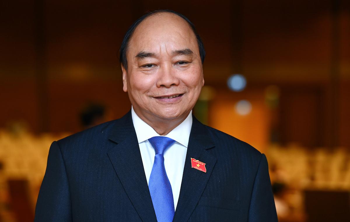 Ông Nguyễn Xuân Phúc tại nghị trường, kỳ họp thứ 11, Quốc hội khóa XIV. Ảnh: Giang Huy