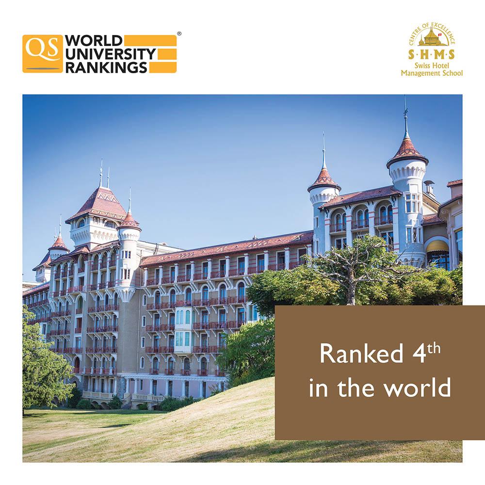SHMS - Swiss Hotel Management School xếp hạng 4  trường đại học đào tạo Quản trị khách sạn tốt nhất thế giới 2021. Ảnh: Trung tâm tư vấn du học Đức Anh.