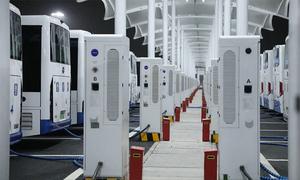 Ra mắt trạm sạc xe buýt thông minh ở Hàng Châu