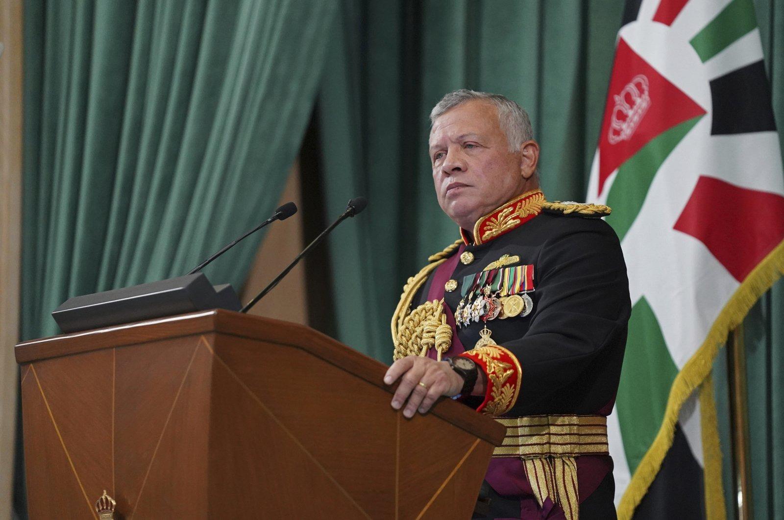 Vua Abdullah II phát biểu tại thủ đô Amman hồi tháng 10/2020. Ảnh: AP