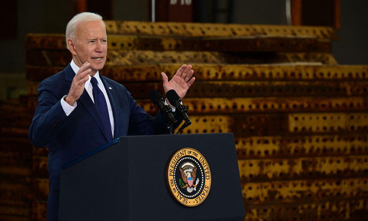 Tổng thống Joe Biden phát biểu về kế hoạch cơ sở hạ tầng tại Pittsburgh, bang Pennsylvania hôm 31/3. Ảnh: AFP.