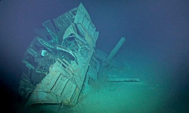 Xác tàu USS Johnston dưới đáy biển Philippines. Ảnh: Caladan Oceanic.