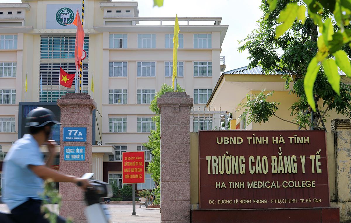 Trường Cao đẳng Y tế Hà Tĩnh, nơi liên quan vụ việc thu hồi bằng tốt nghiệp của 125 học viên. Ảnh: Đức Hùng