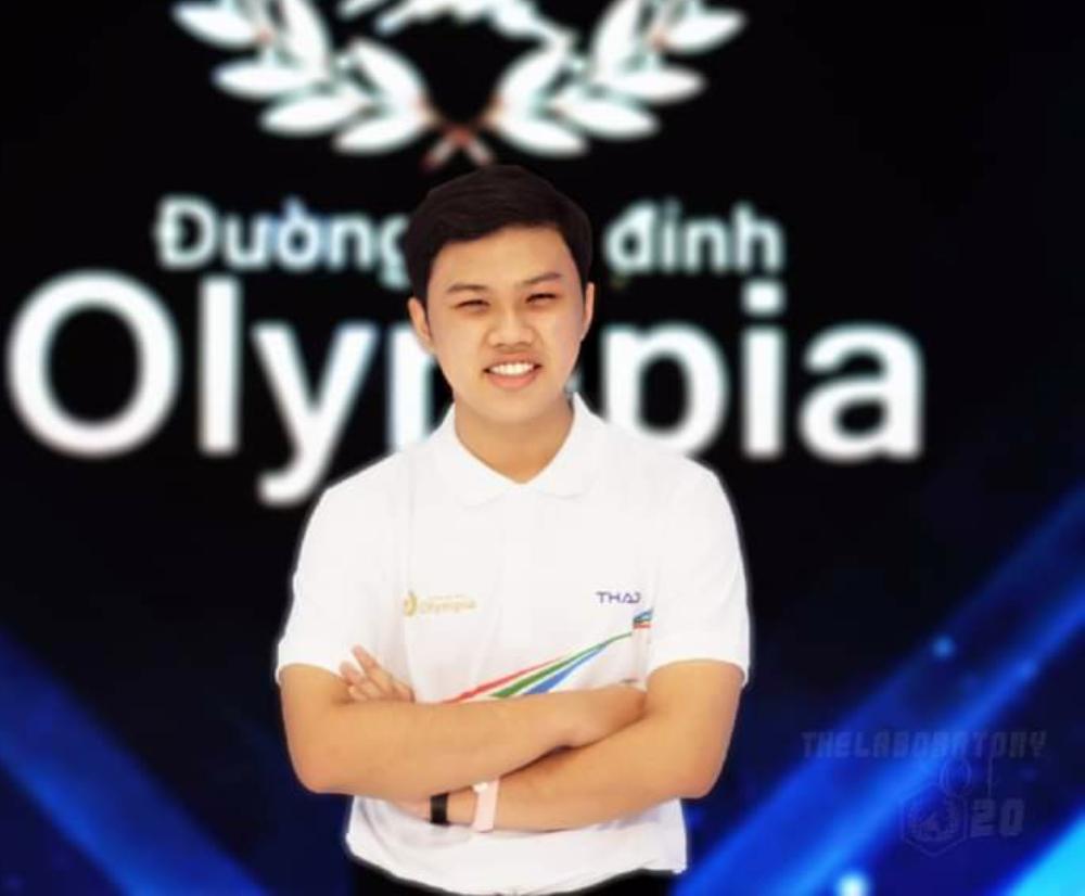 Nguyễn Hồ Tiến Đạt tham gia chương trình Đường lên đỉnh Olympia tháng 7/2020. Ảnh: Nhân vật cung cấp.
