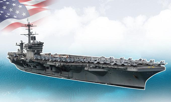 Trang bị trên tàu sân bay USS Theodore Roosevelt. Bấm vào ảnh để xem đầy đủ.
