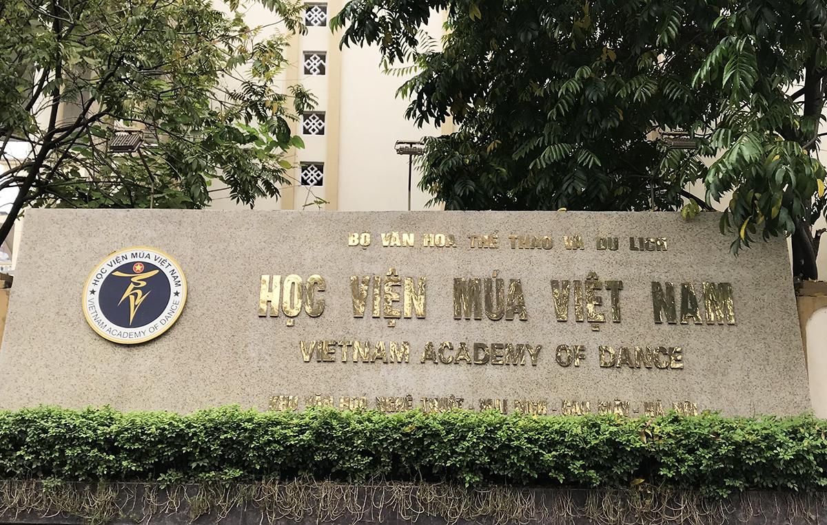 Học viện Múa Việt Nam nằm trên địa bàn phường Mai Dịch, quận Cầu Giấy, Hà Nội. Ảnh: Dương Tâm.