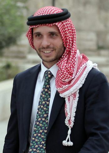 Hoàng tử Jordan Hamzah bin al-Hussein dự sự kiện báo chí ở thủ đô Amman năm 2015. Ảnh: AFP.
