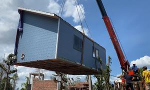 Căn nhà tự lắp ghép giá hơn 600 triệu đồng